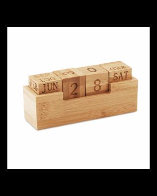 Calendário em bambu