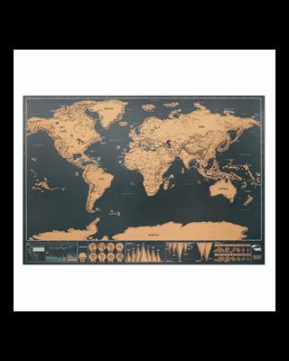 Mapa mundi para raspar 42x30cm
